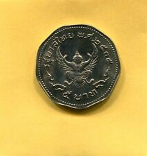 1972 King Bhumibol Adulyadej 5 Baht Unc Coin Rama IX Thailand Garuda Siam Thai k