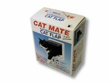 Cat mate - Electromagnetic 4-Way lock cat Flap Door White 2 pack