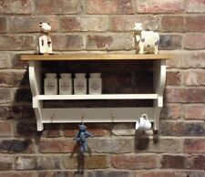 Shabby Chic/Country Kitchen/Pine/Cabinet/shelf Unit/wall Unit In New White