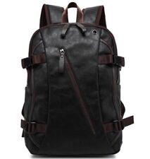 Mens Backpack Pu Leather Travel Laptop Bag Shoulder Handbag