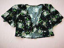 Girls' Rayon Challis Floral Printed Bell Short Sleeve Kimono ART CLASS XS(4/5)