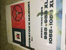 International Harvester 955/955XL & 1055/1055XL Operators Manual
