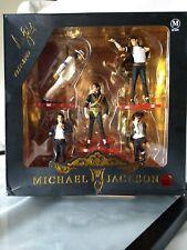 """Michael Jackson Collectors (5) 4 1/4"""" Action Figures Toys Boxed Dangerous Tour"""