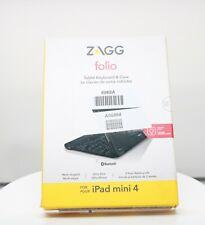 Zagg Folio Bluetooth Wireless Keyboard Case for iPad Mini 4 - Black