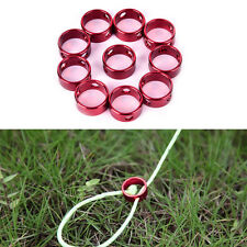 10 Camping Tent Wind Rope Stopper Ring Round Regulating Buckle Cord Tensioner*~*