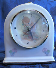 Precious Moments Porcelain Electric Alarm Clock #6105 Forever Friends -Lights Up