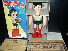 BILLIKEN ASTRO BOY ATOM FLAPPING DOOR ACTION TIN TOY ROBOT TINS TOYS JAPAN MADE
