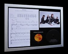 COLDPLAY Shiver LIMITED Numbered MUSIC CD FRAMED DISPLAY+EXPRESS GLOBAL SHIPPING