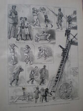 Military tournament for Egyptian War Fund Albert hall London 1883 old print