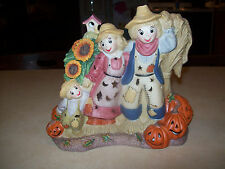 Partylite Scarecrows & Pumpkins Tealight Candle Holder