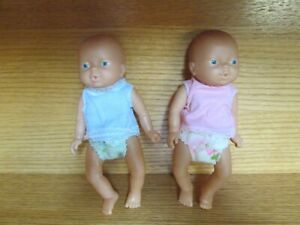 Lot of 2 Emson Anatomically Correct Baby Doll Twins Boy Girl with Clothing