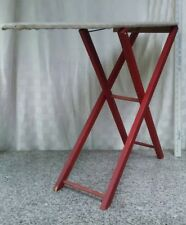 vintage childs wooden play pretend ironing board