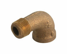 JMF  3/8 in. FPT   x 3/8 in. Dia. MPT  Red Brass  Street Elbow