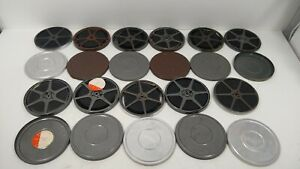 """Lot of 11 - 6"""" Metal 8MM Film Reel With Tin Canisters and Home Movies C&B Revere"""