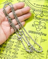 5.5mm 5hook 28 Inches Stainless Steel Necklace Solid for thai amulet handmade@9+