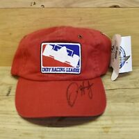 Indy Racing League Autographed Red Strapback Hat Cap Embroidered