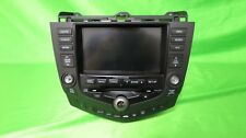 03-07 Accord AM FM 6 Disk CD Navigation Radio  Sku H12-33