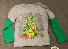 3t Teenage Mutant Ninja Turtles Christmas T-shirt TMNT Boys Merry Holiday