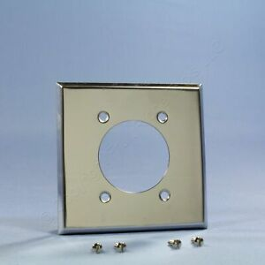"""New Cooper Chrome-Metal Power Receptacle Outlet Wallplate Range Dryer 2.156"""" #68"""