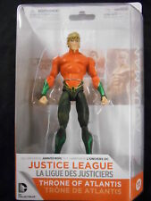 """JUSTICE LEAGUE: THRONE OF ATLANTIS """"AQUAMAN"""" ACTION FIGURE (DC COLLECTIBLES) NEW"""