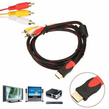 HDMI Male to 3RCA Video Audio AV Cable Adapter For 1080p HDTV DVD, CCTV,FULL HD