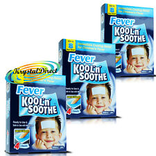 3x Kool 'n' Soothe Soft Gel Children Kids Fever Immediate  Relief 4 Sheets