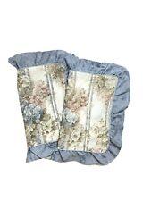 JC Penney Discontinued Pair Pillow Shams HTF Rare 2 Pillowcases Ruffle Vintage