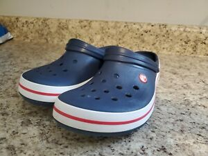 Crocs Crocband Blue and White Size 13 Mens. Look new!