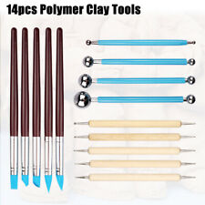 14X Ball Stylus Dotting Tools for Clay Pottery Doll Modeling Sculpting Painting