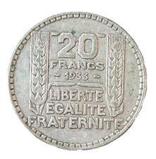 France: 20 Francs TURIN argent 1933