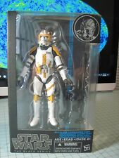 """Star War The Black Series 6"""" Clone Commander Cody #14 Blue Line Opened Complete"""