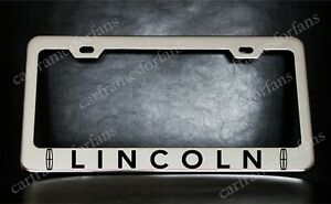 """""""LINCOLN"""" License Plate Frame, Custom Made of Chrome Plated Metal"""