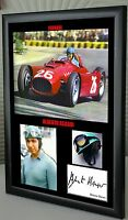 "Alberto Ascari F1 Ferrari Framed Canvas Signed Print ""Great Gift"""