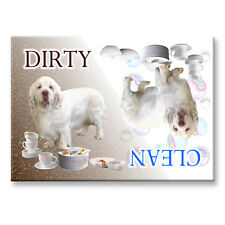 Clumber Spaniel Clean Dirty Dishwasher Magnet New Dog