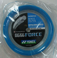 YONEX Badminton String BG66 Force BG 66 F, 200 m, CYAN, Maximum Power/Control