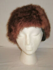 Vintage Ladies Furry brown winter Hat Franklin simon