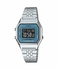 Casio Ladies Silver Digital Retro Watch LA680WA-2BDF