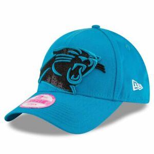 Carolina Panthers New Era NFL Women's Glitter Glam Cap Hat Adjustable 9FORTY Lid