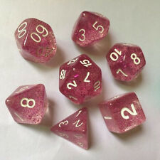 7 Dice Set DUNGEONS & DRAGONS D&D Multi Sided D4-D20 RPG Role Play Game Pink