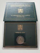 Coffret 2 euro commémorative Vatican 2018 Padre Pio Vatikan Vaticano