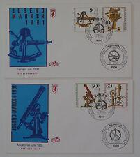 (k641) Berlin Schmuck FDC Michel Nr. 641-644 Jugend 1981 optische Instrumente