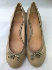 Tory Burch Chelsea 45mm Sandbox Beige Wedge Shoes Size US-8