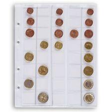 Feuilles numismatiques Optima pour 5 séries d'euros.