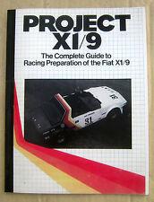 Fiat Bertone X1/9 1500 1300 PBS Racing Modifications Project X1/9 - 128 Manual