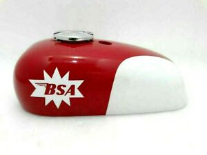 Fuel Petrol Gas Tank Red And White Painted BSA A65 Spitfire Hornet 2 Gallon