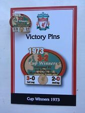 DANBURY MINT LIVERPOOL FC VICTORY PIN BADGE 1973 UEFA CUP WINNERS VS GLADBACH