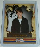 Justin Bieber SIGNED 2011 Panini Americana on card auto