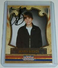 Justin Bieber SIGNED 2011 Panini Americana on card auto