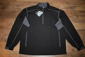 FootJoy Sport Windshirt Golf 1/2 Zip L/S Pullover Size XL (Black / Charcoal) NWT