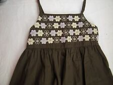 GYMBOREE GLAMOUR SAFARI Brown Purple floral Sundress Dress Spring Easter Girl 6